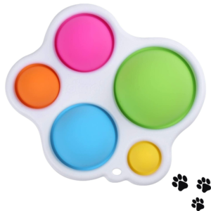 Paw Board Simple Dimple Sensory Fidget Toy, Early Education, Motor Skills, Stress Relief, ADD, ADHD & Autism Aid Toy for Toddler Kids Adults, Baby Teething Decompression, BPA Free